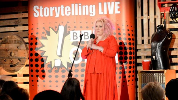 Ruby telling her story to a live audience