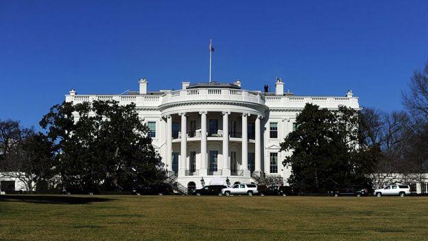 Fachada da Casa Branca, em Washington