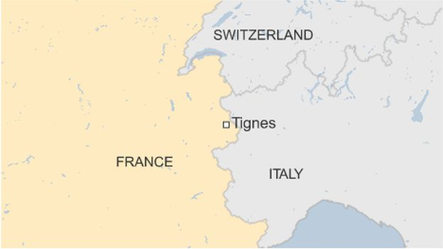 Tignes map