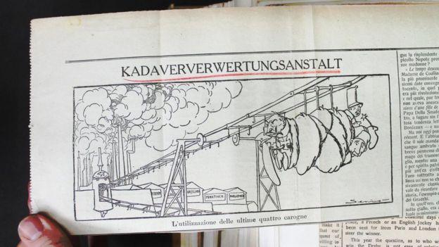 A newspaper cartoon