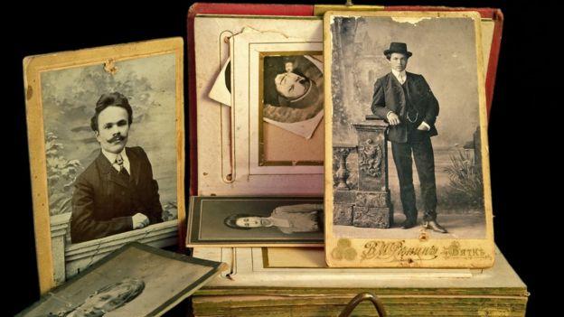 Álbum de família antigo