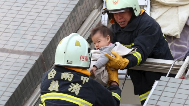 Deadly earthquake topples buildings in Taiwan