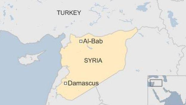 Map of Al-Bab