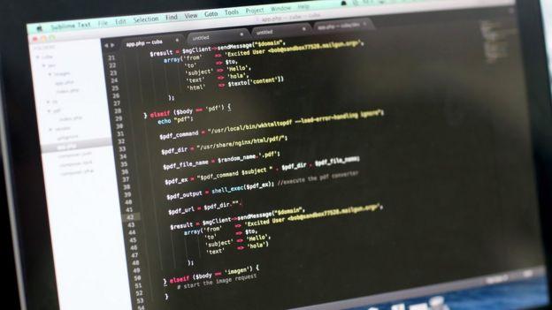 Líneas de código de computadora