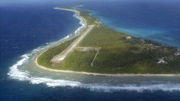 Pista de aterrisagem nas Ilhas Marshall