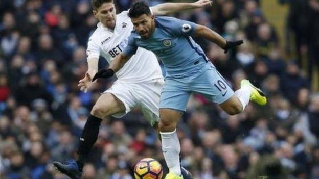 Sergio Aguero amefungia Manchester City jumla ya mabao 18 msimu huu