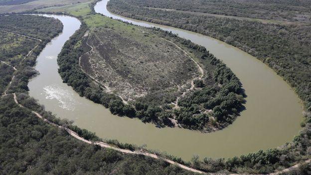 Río Grande, en la frontera entre México y Estados Unidos.
