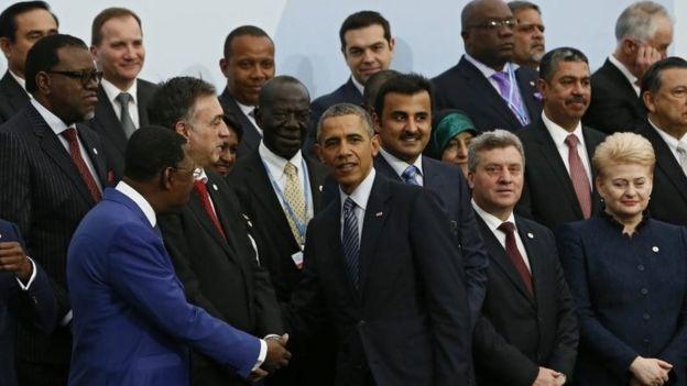 Barack Obama llega a la conferencia sobre cambio climático de París (30 de noviembre de 2015)
