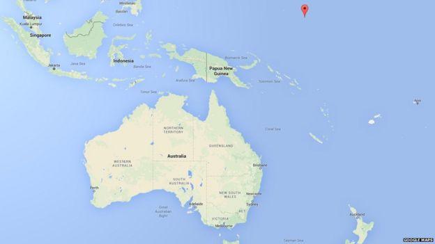 Kosrae en el mapa