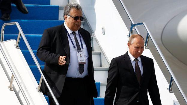 Andrei Karlov y Vladimir Putin.