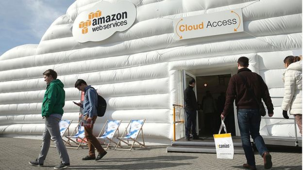 Stand de Amazon Web Services en Cebit 2016