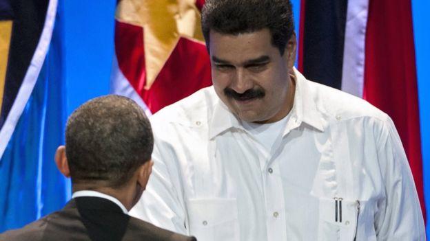 Barack Obama y Nicolás Maduro
