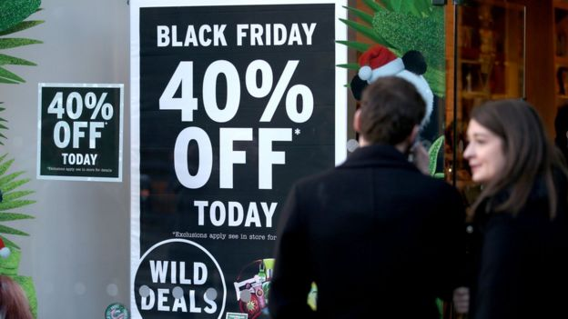 Black Friday discount sign