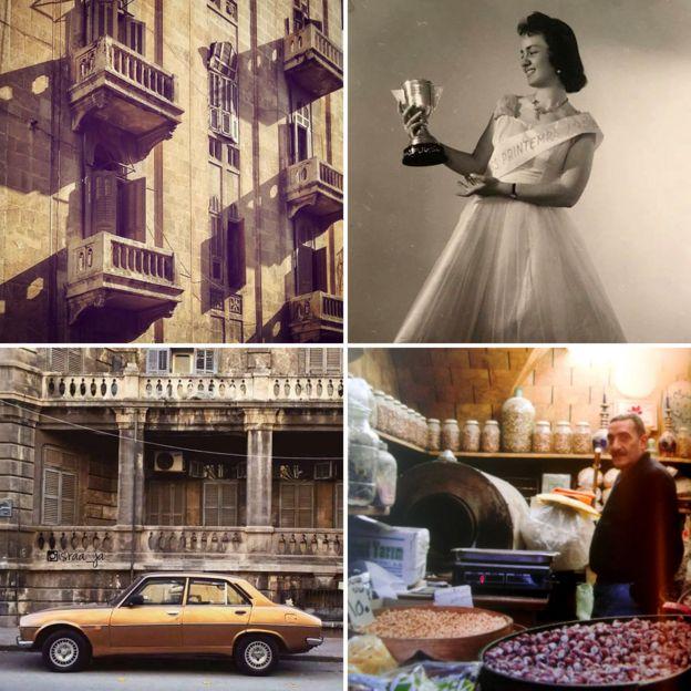 Balcones, una reina de belleza, un coche de oro y un vendedor de nueces en el zoco.