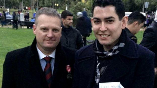 Stuart Martin (left) and Daniel Theophanou were both gay servicemen in Australia's military