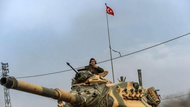 Fırat Kalkanı Harekâtı'na katılan bir Türk askeri
