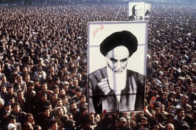 Iranians protest against the Shah in 1979