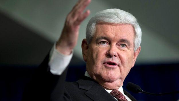 Newt Gingrich ismi Dışişleri Bakanlığı için geçiyor.