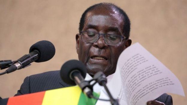Zimbabwean President Robert Mugabe (03 September 2016)