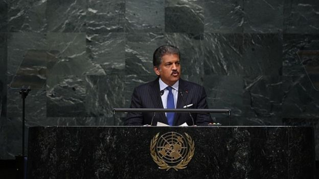 Anand Mahindra addresses the United Nations Opening Ceremony