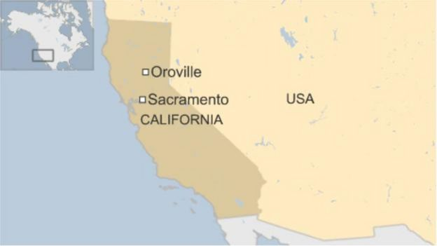 Bản đồ Oroville