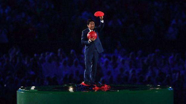 Shinzo Abe en el Maracaná