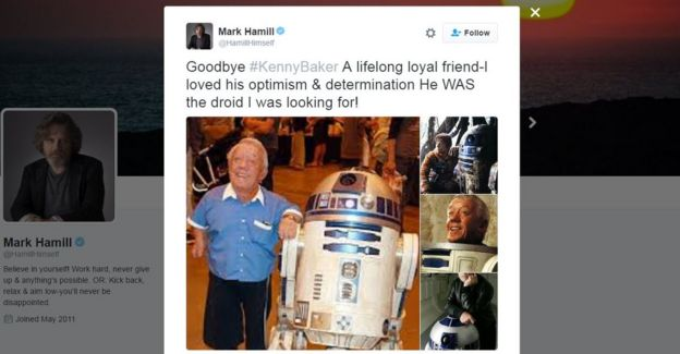 Tweet from Mark Hamill