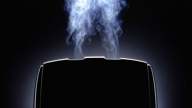 Smoking toaster image