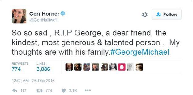 Geri Horner tweets