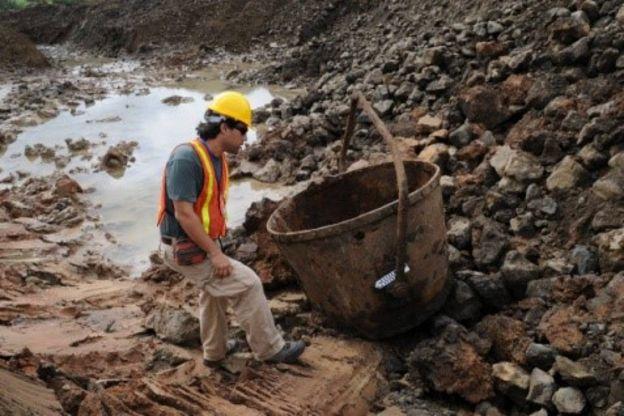 Objetos encontrados en excavaciones del Canal de Panamá