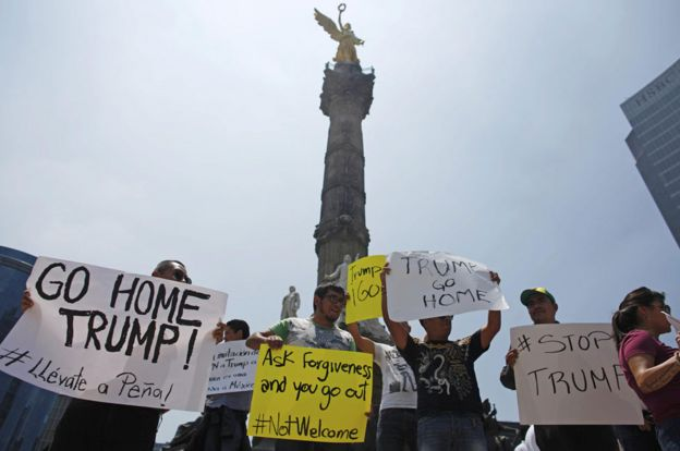 Protesters in Mexico City