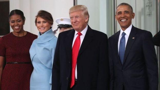奧巴馬總統及夫人邀請特朗普夫婦到白宮