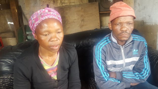 Richard's parents, Nombeko Thole and Meshack Mohlala