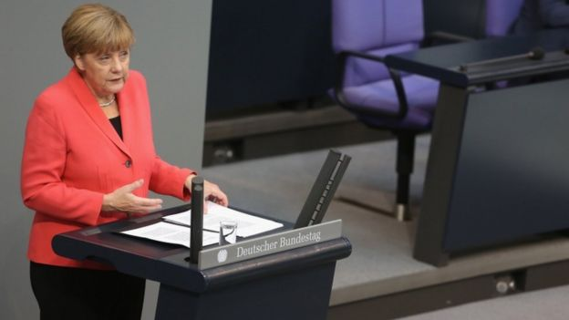 Angela Merkel at the Bundestag, 24 Sept