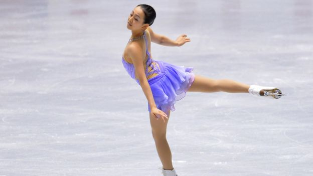 Mao Asada of Japan competes in the women's short program