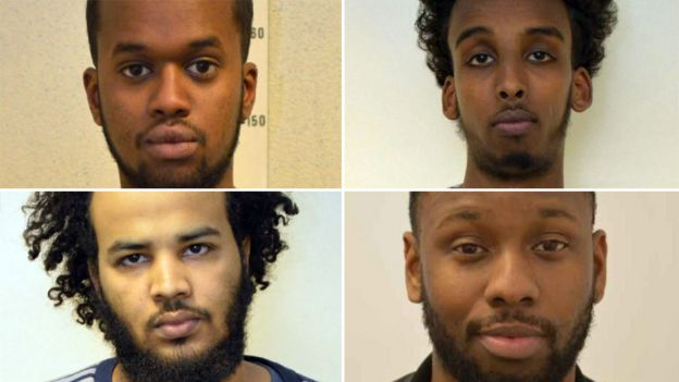 Sakaria Aden, Mohamed Dahir, Nathan Fagan-Gayle and Yasser Abukar