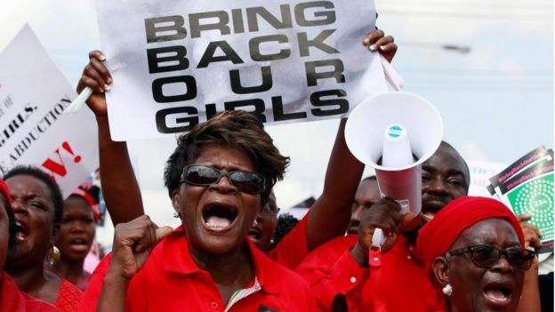 Bring Back Our Girls campaigners in Nigeria - 2014