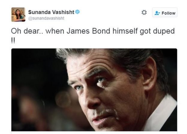 Oh dear.. when James Bond himself got duped !!