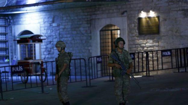 Soldiers were deployed in Istanbul's Taksim Square