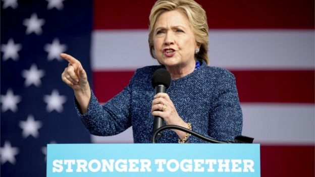 Mrs Clinton did not address the news during her rally in Iowa on Friday