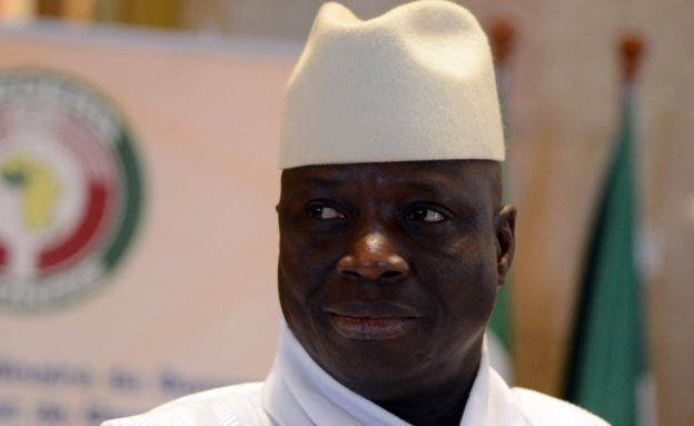 President Yahya Jammeh of Gambia attends the 44th summit of the 15-nation west African bloc ECOWAS at the Felix Houphouet-Boigny Foundation in Yamoussoukro on March 28, 2014.
