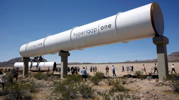 What is a hyperloop in transportation?