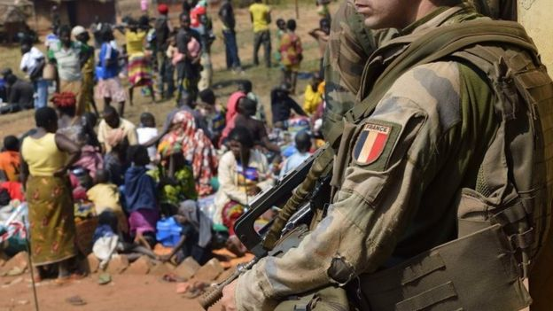 French solider in the Central African Republic (04 June 2016)