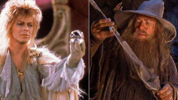 David Bowie en Lanyrinth e Ian McKellen en Lord Of The Rings