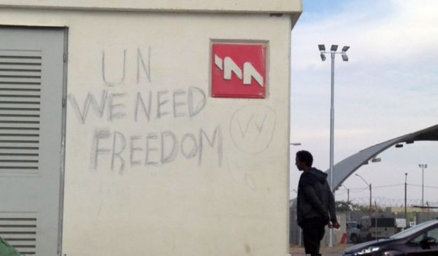 UN we need freedom sign