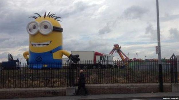 Minion in the fairground
