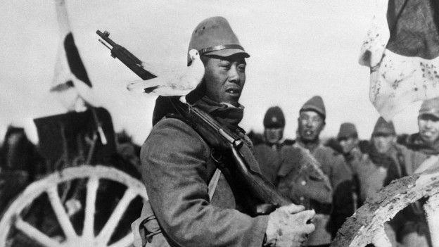 Soldado japonês durante a Segunda Guerra