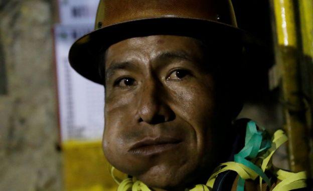Minero mascando coca