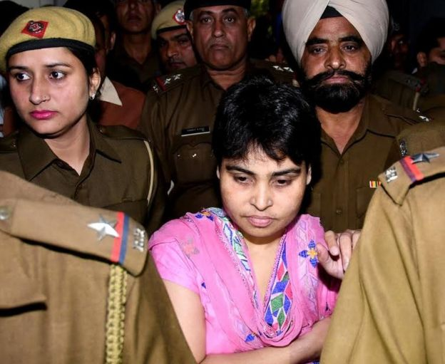 Sadhvi Deva Thakur after her surrender on Friday