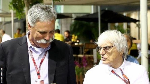 Chasey Carey y Bernie Ecclestone